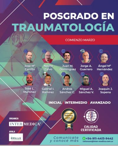 POSGRADO EN TRAUMATOLOGÍA (CURSO COMPLETO - DESDE NIVEL INICIAL)